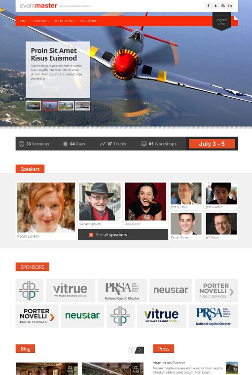 Gabfire Themes Event Master WordPress Theme
