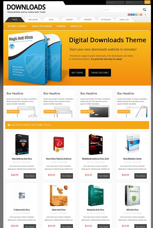 Premiumpress Responsive Digital Downloads Theme