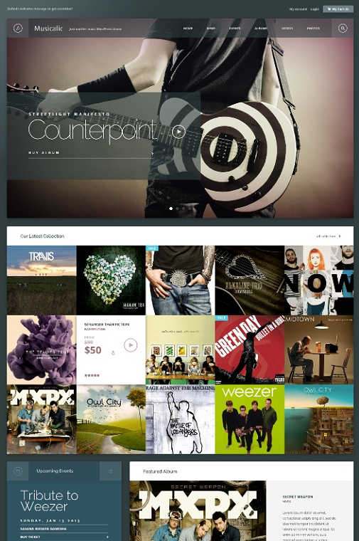 Angkloong WordPress Events & Music Theme