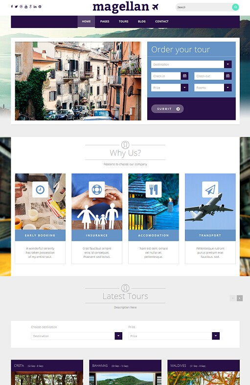 TeslaThemes Magellan Travel WordPress Theme