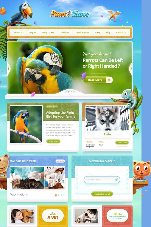 ThemeFuse Paws & Claws Pet WordPress Theme