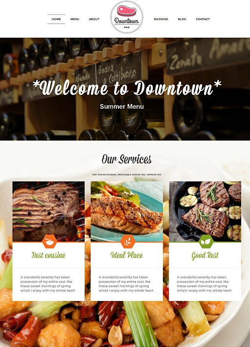 TeslaThemes Downtown Restaurant WordPress Theme