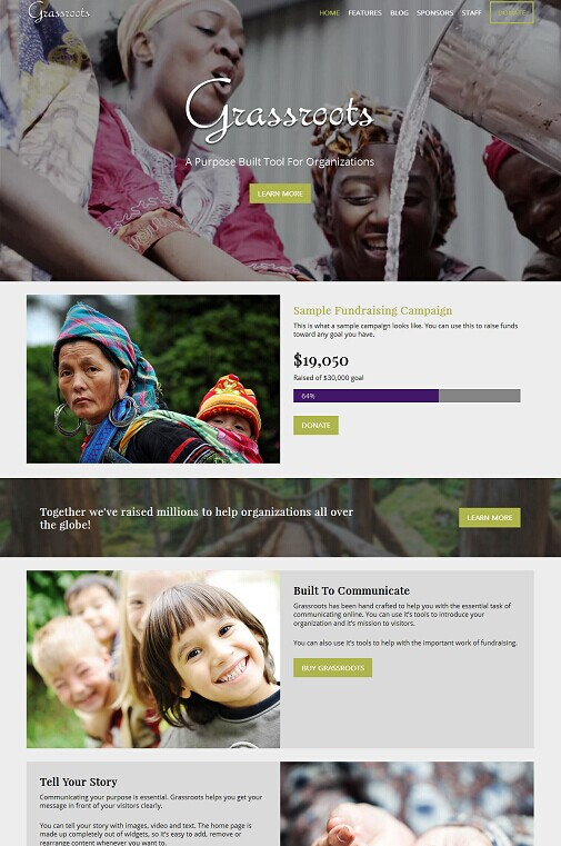 Organized Themes Grassroots Non-Profit WordPress Theme