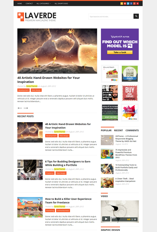 FameThemes Laverde WordPress Theme