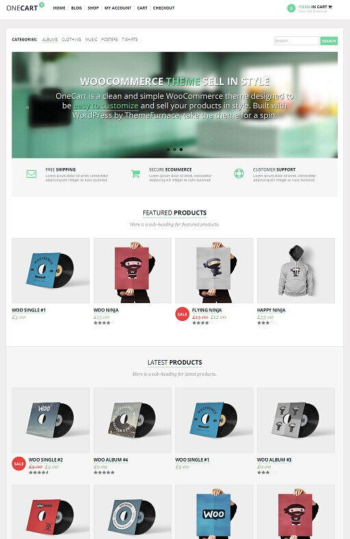 ThemeFurnace OneCart ECommerce WordPress Theme