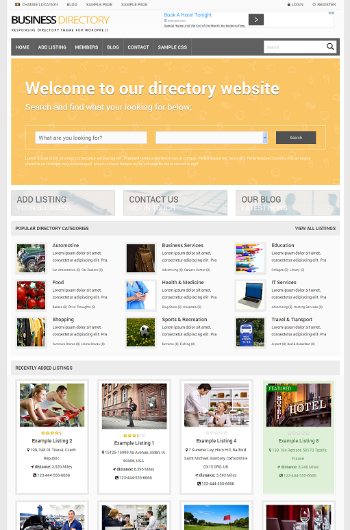 PremiumPress Responsive Business Directory Theme