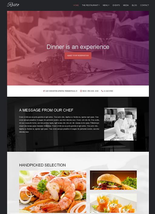 CSSIgniter Resto WordPress Theme