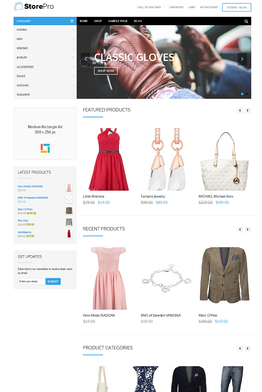 Theme Junkie StorePro WordPress eCommerce theme