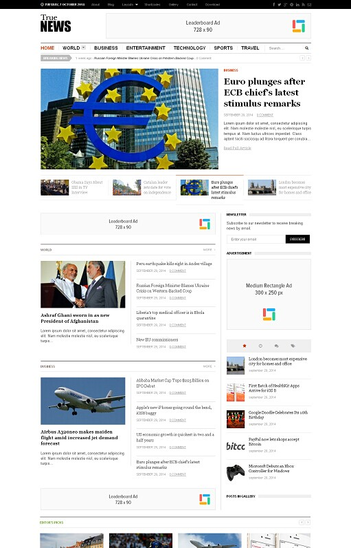 Theme Junkie TrueNews WordPress Theme