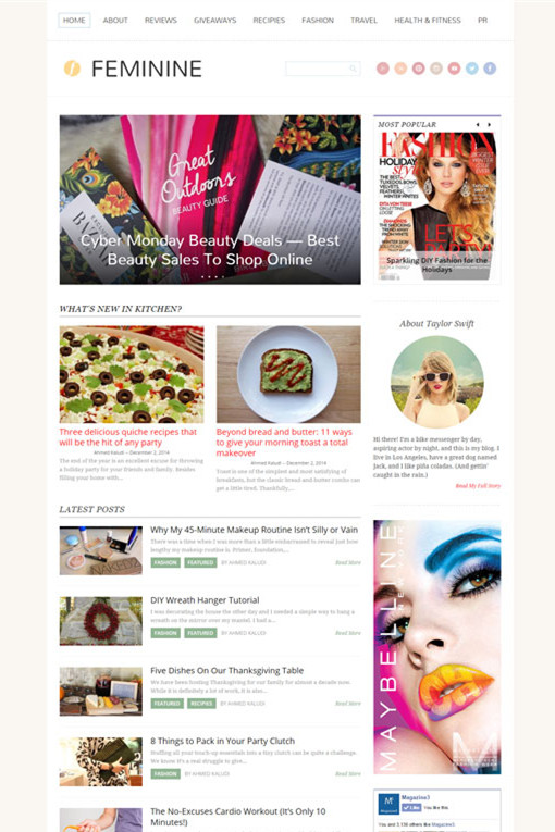 Magazine3 Feminine WordPress Theme
