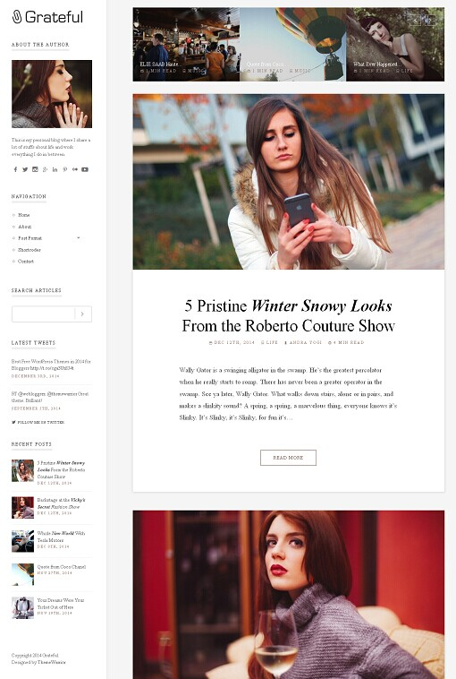 ThemeWarrior Grateful WordPress Theme