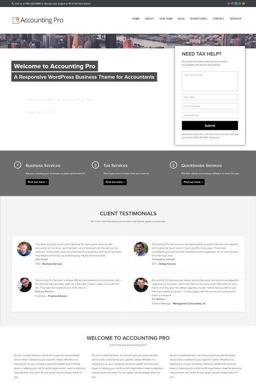 FrogsThemes Accounting Pro WordPress Theme
