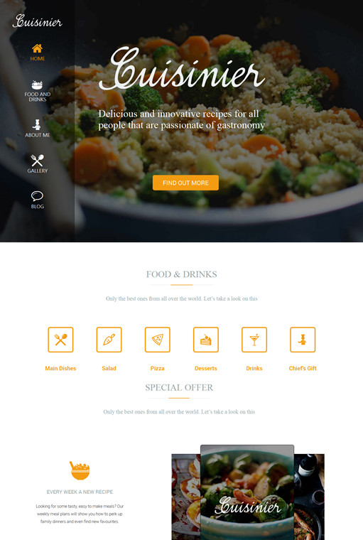 TeslaThemes Cuisinier Recipe WordPress Theme