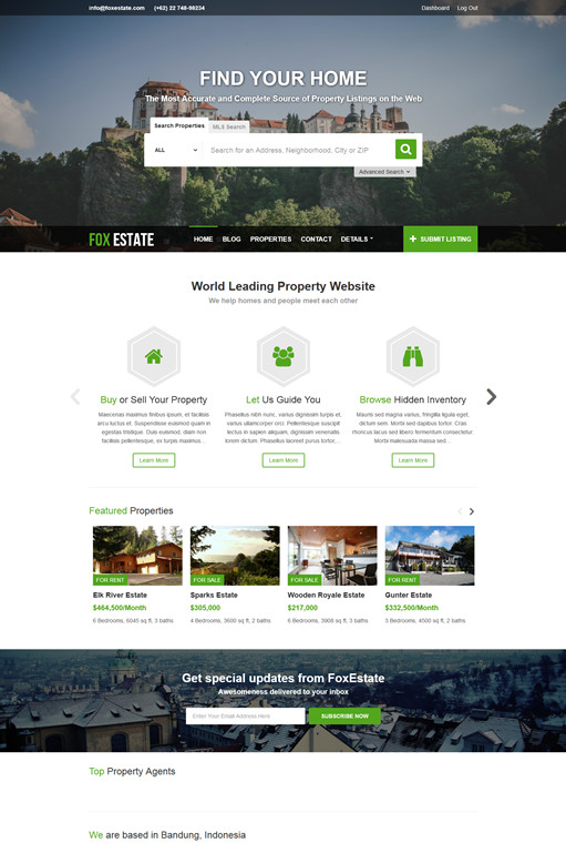 ColorLabs FoxEstate Real Estate WordPress Theme