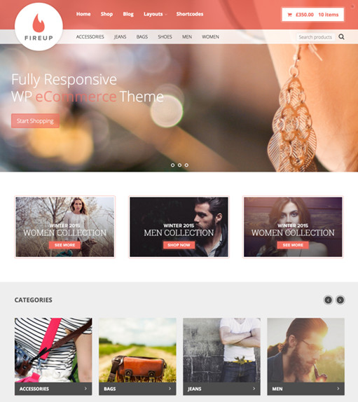 Theme Junkie FireUp WordPress theme