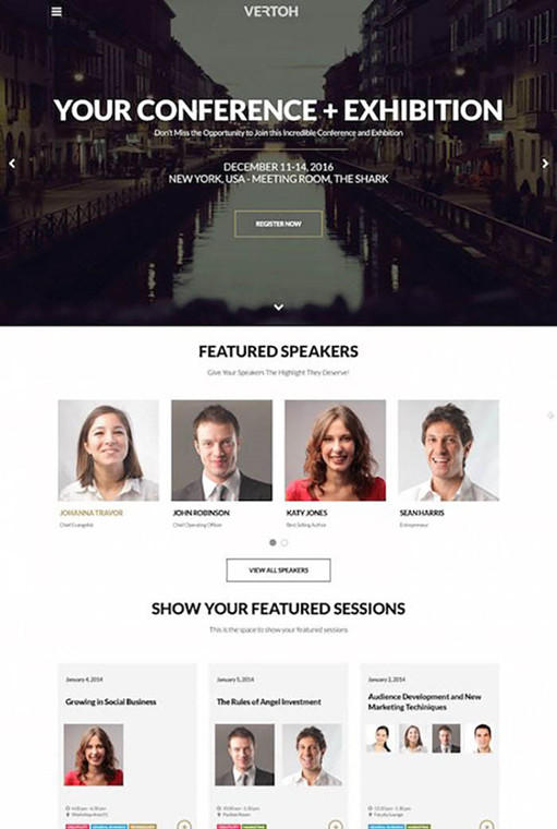 ShowThemes Vertoh WordPress Event Theme