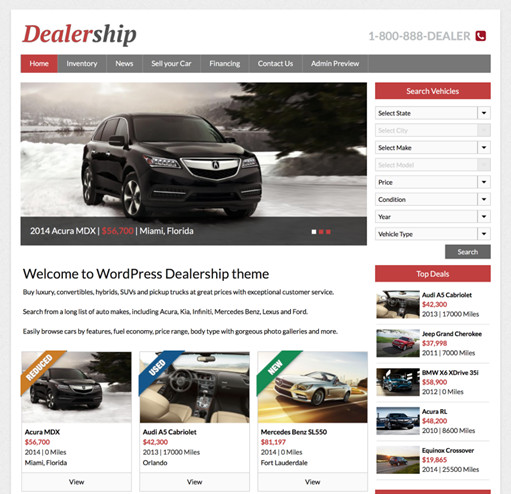 Dealership - Mobile Responsive Car Dealer Theme