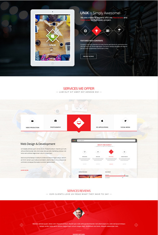 TeslaThemes Unik Multipurpose WordPress Theme