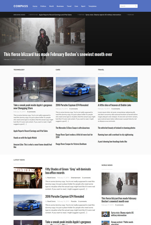 WPZOOM Compass WordPress Magazine Theme