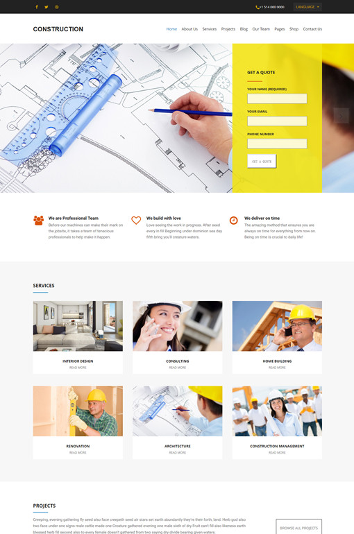 WPLook Construction WordPress Theme