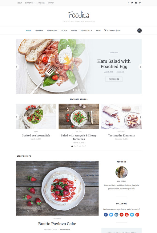 WPZOOM Foodica WordPress Food Magazine Theme