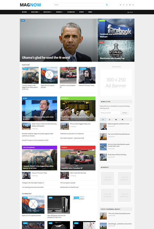Theme Junkie MagNow Fully Customizable Magazine WordPress Theme