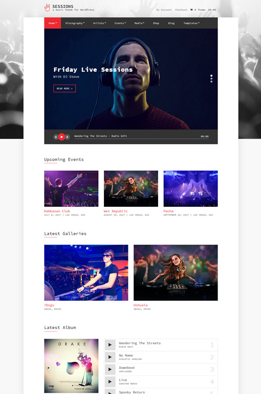 CSSIgniter Sessions WordPress Music Theme