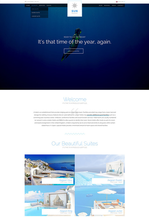 CSSIgniter Sun Resort WordPress Theme