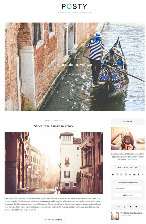 Theme Junkie Posty WordPress Theme
