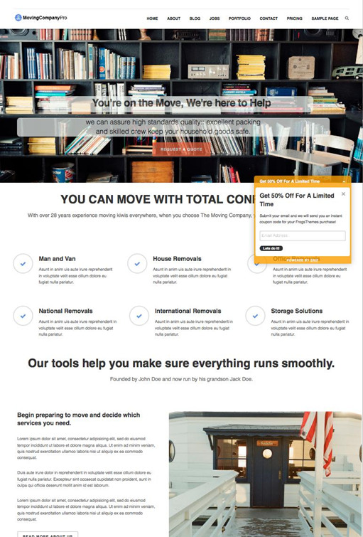 FrogsThemes Moving Company Pro WordPress Theme