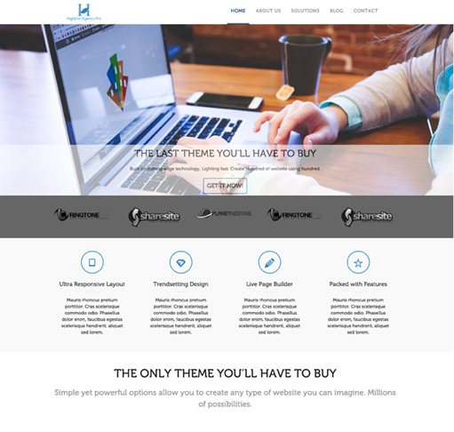 High-End Agency Pro WordPress Theme