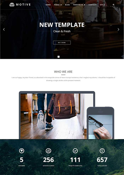 TeslaThemes Motive Portfolio WordPress Theme